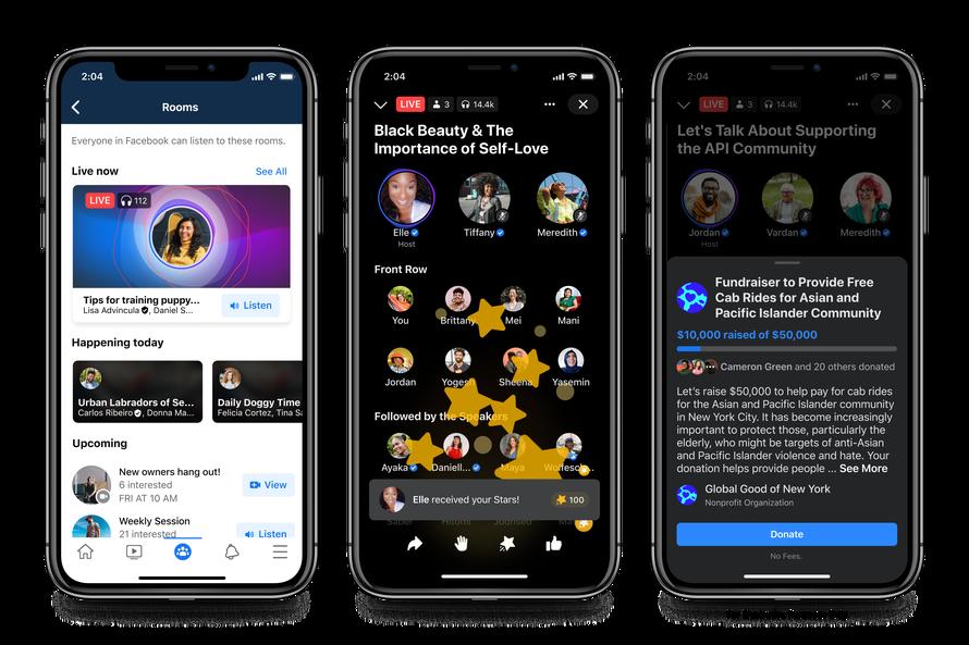 Facebook anuncia novas ferramentas de áudio, incluindo possível rival do Clubhouse